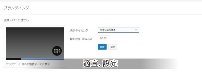 チャンネルリンクの登録設定