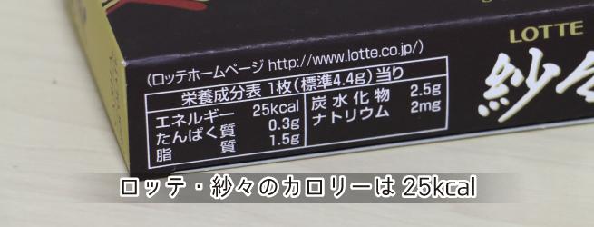 ロッテ・紗々のカロリーは25kcal